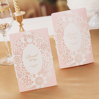 Custom Made wedding card with cutting die
