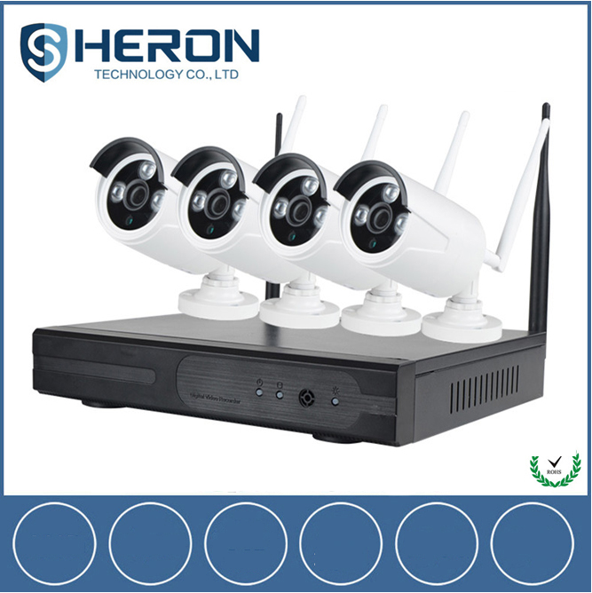 1.3 Megapixel 960P WIFI CCTV System 4CH Wireless HD NVR Kit IR-CUT CCTV Camera Home Security System Wireless Surveillance Kits