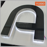 Outdoor lighting anti-rust metal alphabet letters plastic backlit letters