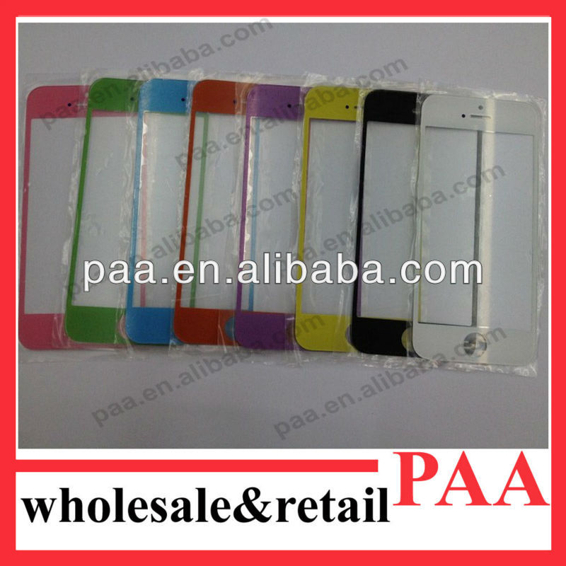 Color Front Glass Cover for iphone 4, Repair Replacement Parts for iPhone 4