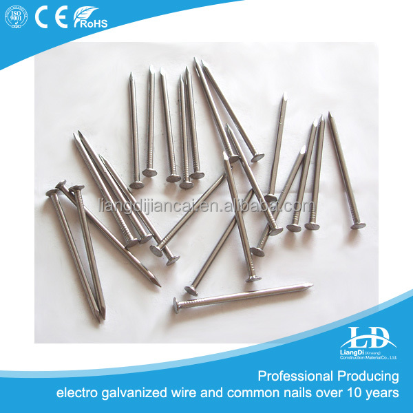 Hot selling Q235 Polish bright flat head/round BWG 20 common iron nail