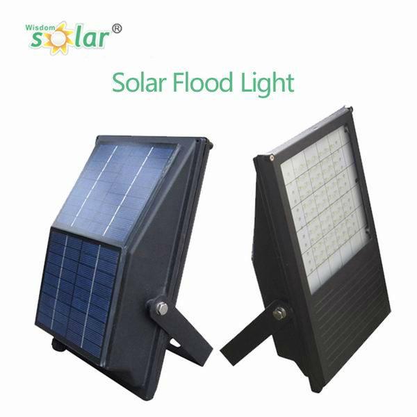 Automatic Cold White Emitting flood light solar led advertising light