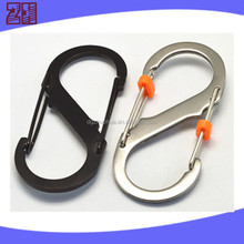 Swivel carabiner hook for climbing,Stainless spring snap hook,mountaineering carabiner hook