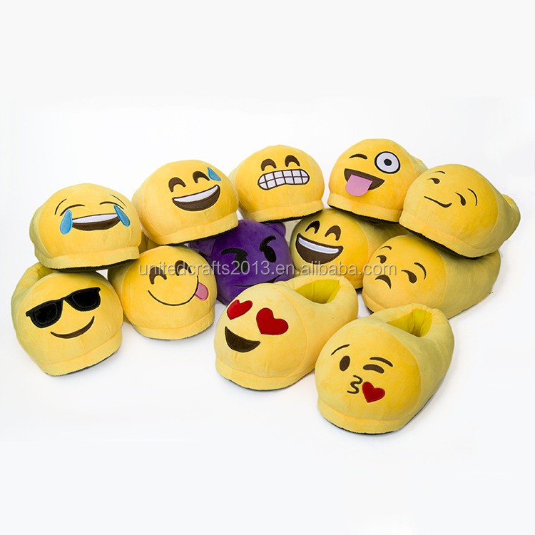 despicable me minion plush slippers and shoes/funny emoji slippers