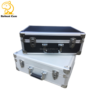 OEM Factory cheap hard shell equipment instrument sturdy metal frame custom silver aluminum display case