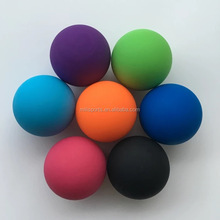 High Density muscle therapy natural rubber yoga Ball Rubber Massage Ball for muscles relax solid rubber massage ball