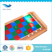 Factory Price Cool Math 4 Kids Math Games Kindergarten Teaching Aids Checker Board With High Quality