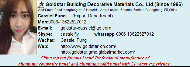 building material Nano self-cleaning aluminum composite panel