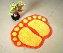 Microfibre polyester shaggy hand hooked foot mat