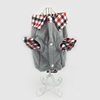 Pet clothing small dog clothes winter jacket plaid collar wholesale
