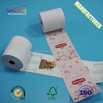 High quality BPA free 3 1/8 thermal paper rolls