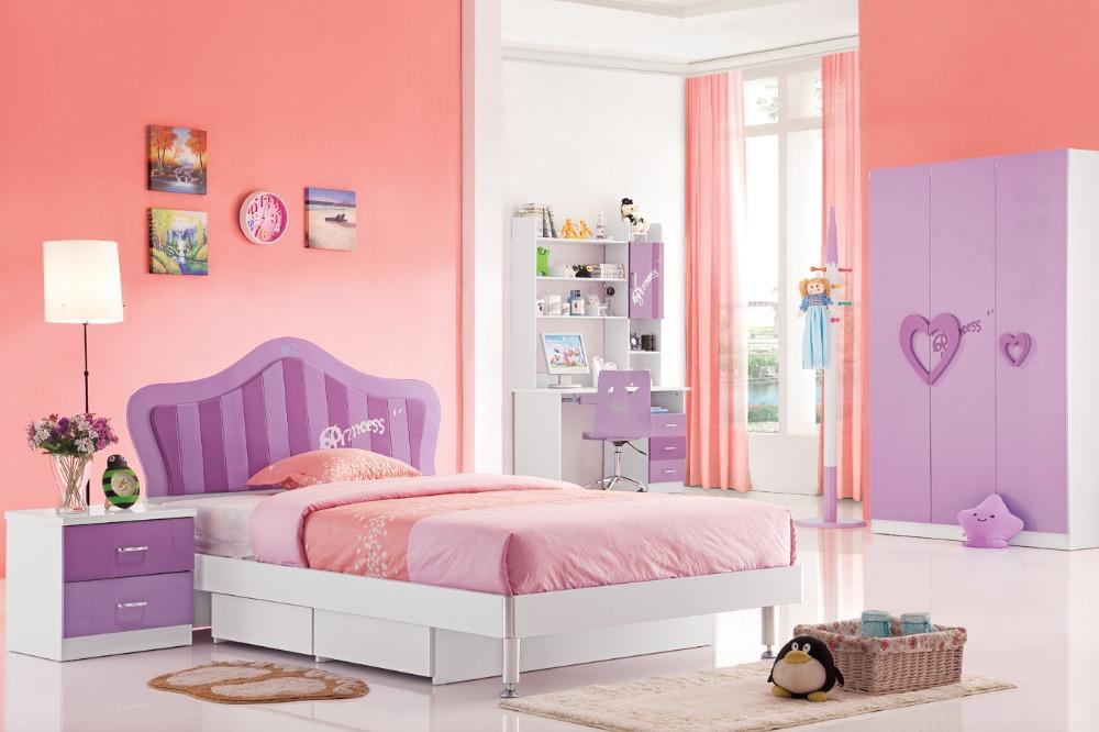 rd101 sweet girl purple princess bedroom set 2015 alibaba