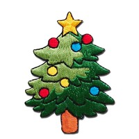 Embroidered Badge Style Christmas Tree Iron On Big Back Patch For Clothing