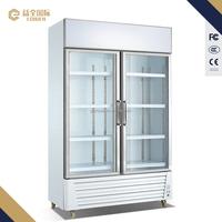 1200X580X1925 supermarket vertical glass door fresh food refrigerated display freezer showcase