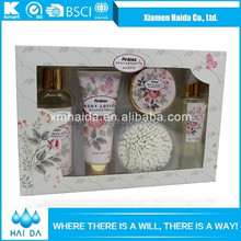 Wholesale factory rose vanilla spa bath gift set