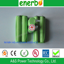 High Quality H12AAA Ni-MH Rechargeable Battery 2.4V 330mAh Battery on Sale from Battery Supplier