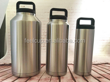 18oz36oz64 oz Insulated Stainless Steel Water Bottle and Beer Growler Steel Lid & Handle