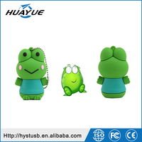8gb 16gb 32gb USB 2.0 Frog Shaped Silicone USB Thumb Memory, Wristband USB Flash Drives with Metal Box