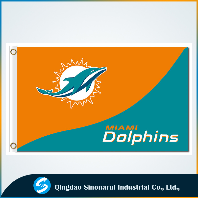 Wholesale products 3ft*5ft custom flags Miami Dolphins <strong>show</strong> flags