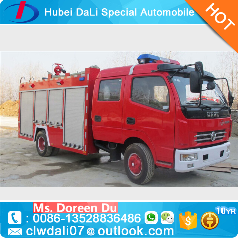Factory direct selling fire fighting truck DONGFENG 95HP Mini Pumper Fire Truck small fire truck