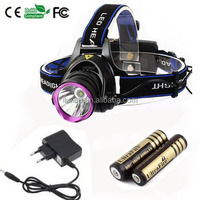 2000 Lumens XM-L T6 Head Lamp High Power LED Headlamp 3 Modes Headlight Outdoor Sport 2pcs 18650 4000mah battery+ Charger