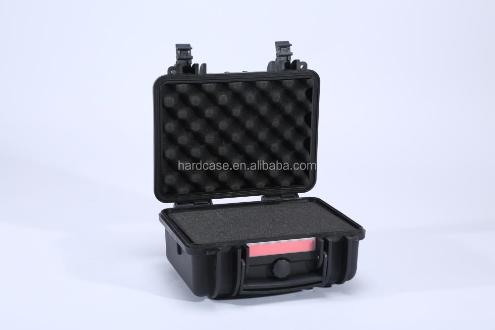 Hard safety plastic waterproof shockproof dustproof Tool Case/carrying case/small rugged waterproof transparent