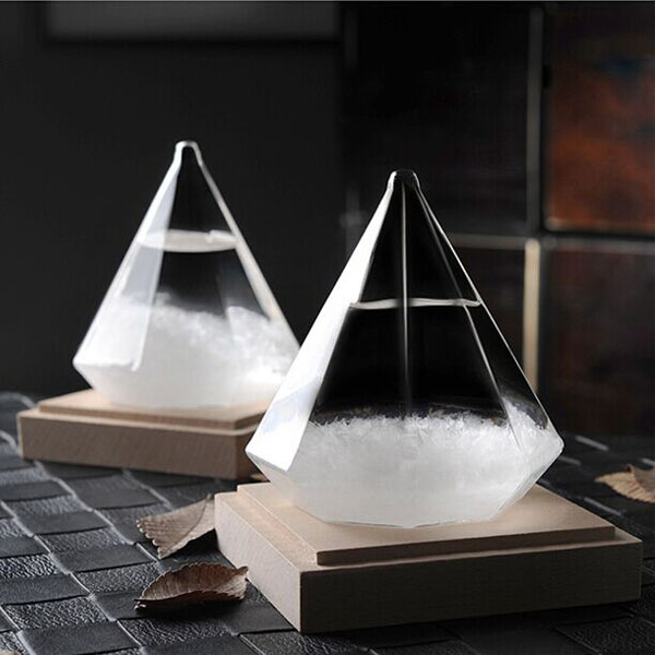 diamond shape storm glass
