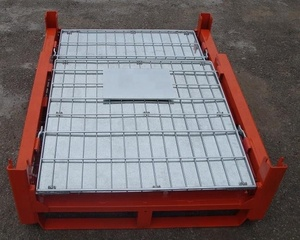 Collapsible storage crate for transport packaging
