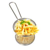 High Quality Fat Fryer Stainless Steel Mini Deep Fry Serving Basket For French Fries