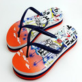 PVC strap material high elastic eva magic castle printing insole sandals flip flop