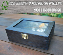 Wooden Box with frame for photo at the top in ebony colour