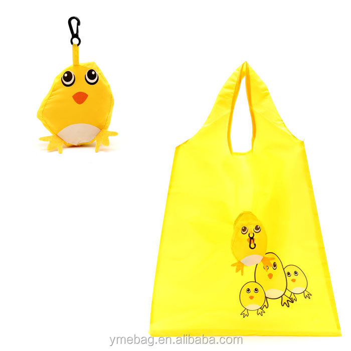 Dog design waterproof polyester shopping bag with t-shirt shape