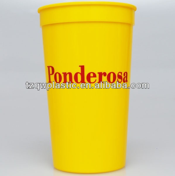 BPA Free 22OZ plastic stadium cup manufacturer 2014 Brazil World Cup