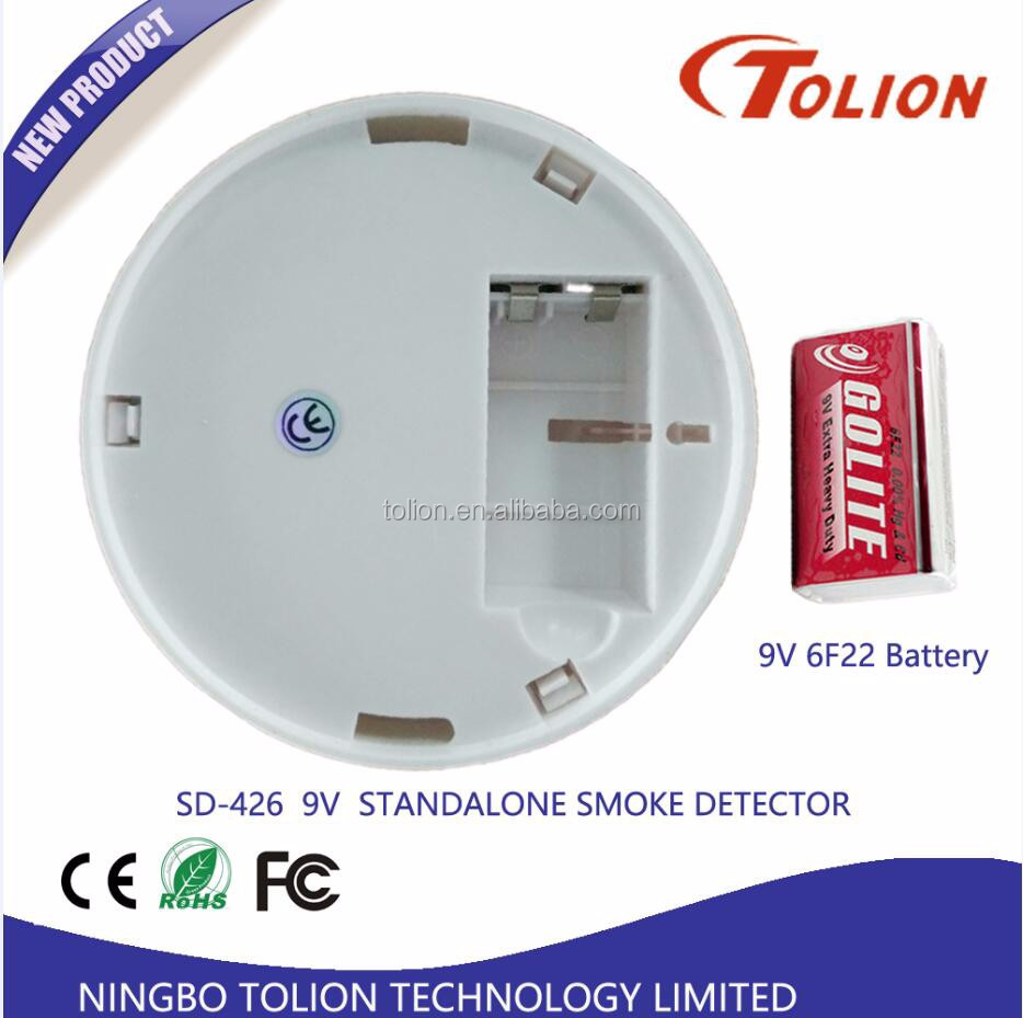 10 Year Lithium Battery Wireless Standalone Photoelectronic Smoke Detector315MHz/433MHz