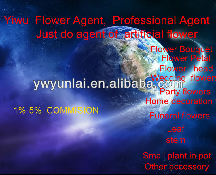 Yiwu Yunlai buying Agent JUST of artificial fower