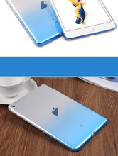 Hot sale factory transparent gradient tablet case for ipad air 2 customized welcomed