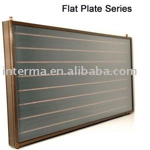 Flat panel solar collector system