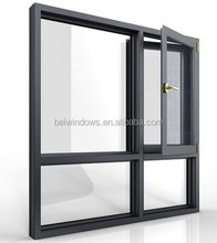 Aluminum Frame Double Sashes Glass Swing Window Guangdong Factory Price