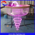 Multicolor crystal ceiling chandelier with remote control