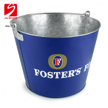 Custom aluminium metal champagne ice bucket with stand for parties