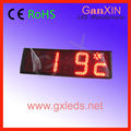 alibaba express 4digits 6inch Semi-Outdoor led digital Clock with temperature