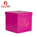 Waterproof tray packaging cardboard box flowers gift with logo