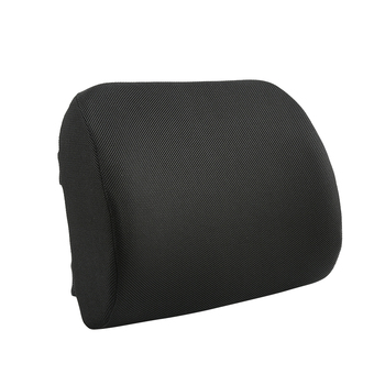 Soft Lumbar Support Pillow Black Memory Foam Back Cushion For Back Pain