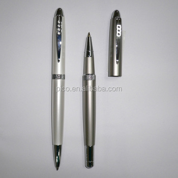 Logo Customized Promotion Advertising Metal Ballpoint Pen With Engraving Middle Ring