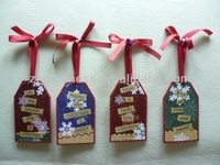 GOOD SALE Small Wooden Hangtag Ornaments for X'mas Decoration