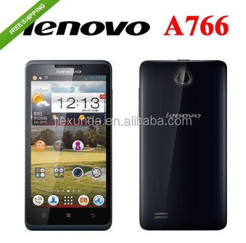 Lenovo A766 5.0 Inch IPS 854*480 MTK6589m Quad Core 1.2GHz 512MB+4GB Android 4.2 5.0MP Camera Mobile Phones