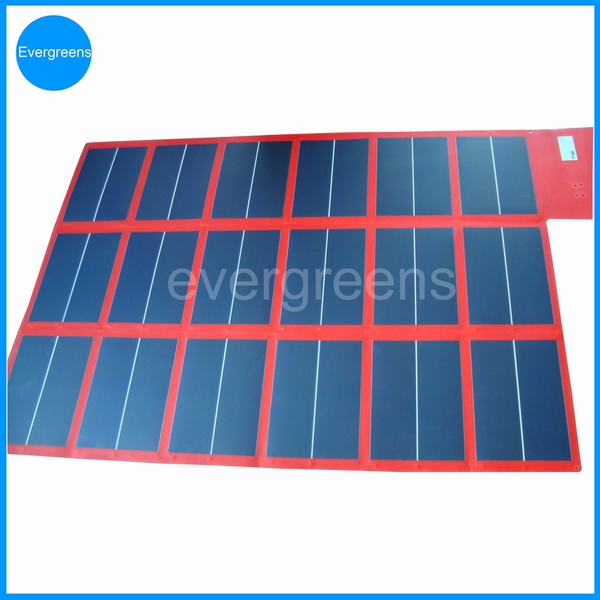 108W 18V foldable amorphous 11200mah solar charger for laptop