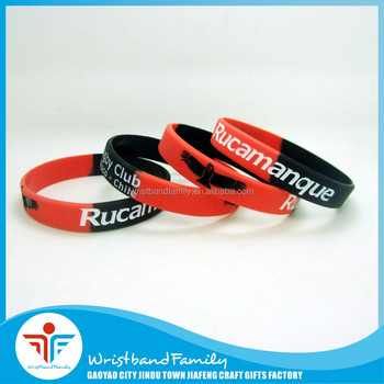 Top Quality Rugby Oregon Segmented Silicone Wristband Event Wristband