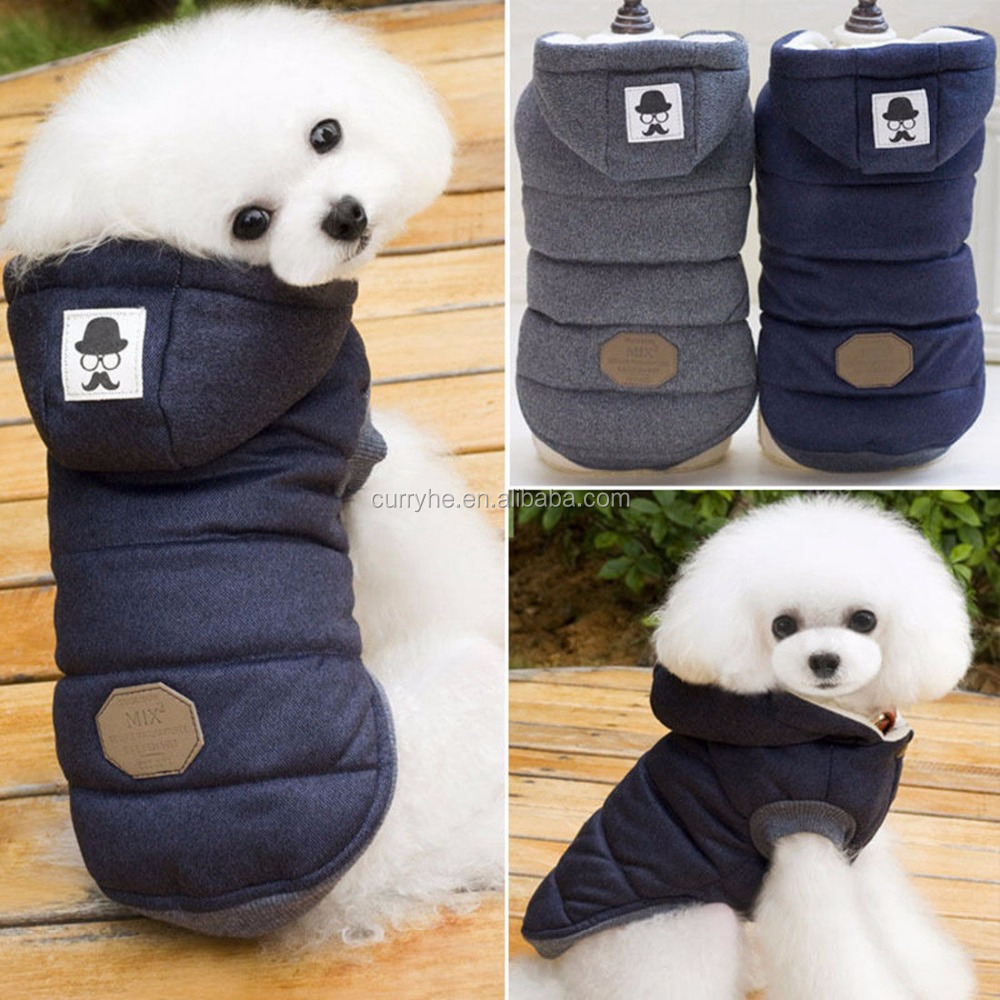 China Supplier OEM Service Cheap Jacket Pet Winter Cotton Coat Hoodie Hat Warm Apparel Puppy Cat Dog Clothes New
