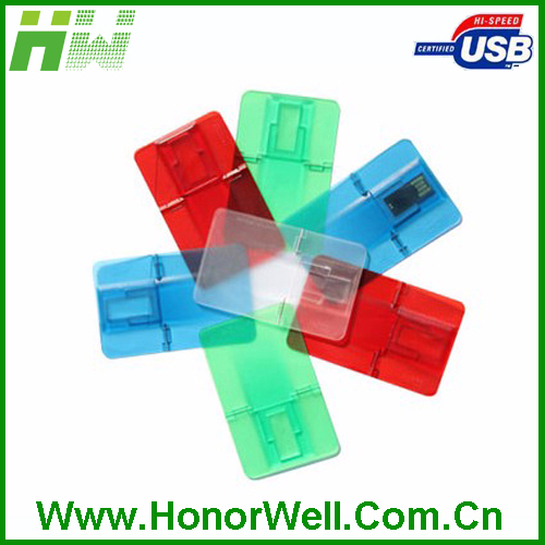 China Factory Price Business Credit Card USB Flash Drive folding shape USB with custom logo
